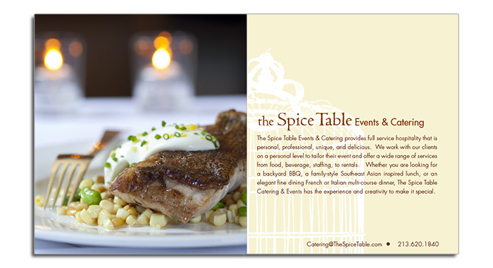 Catering eBrochure - Content Page